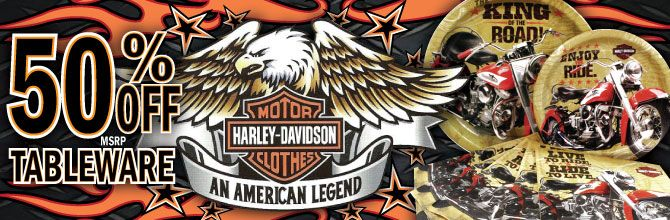 50% OFF RIGHT NOW Harley-Davidson Party Supplies | Jax ...