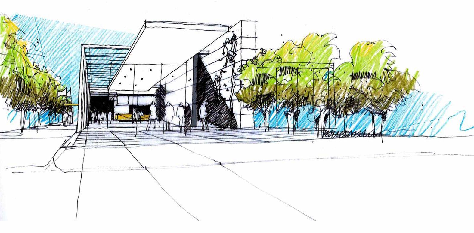 Urban design concepts sketches the for Urban design concepts architecture