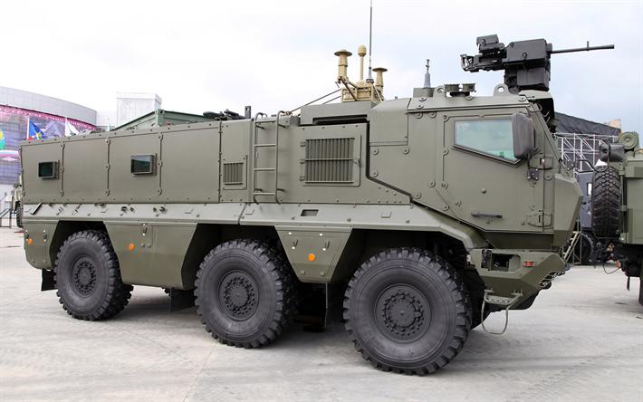 Lataa kuva Venäjän Panssaroitu auto, Typhoon-K, KAMAZ, MRAP ajoneuvot, KAMAZ-63968, Venäjän Asevoimien, panssaroituja ajoneuvoja