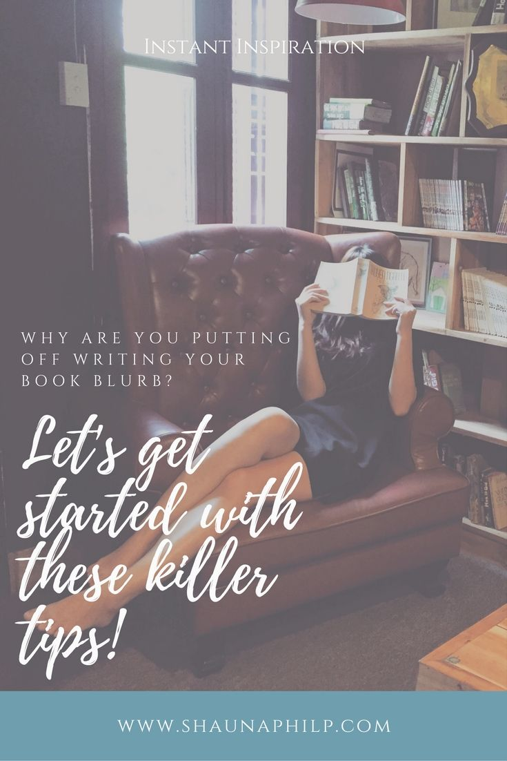Tips for writing a killer book blurb.