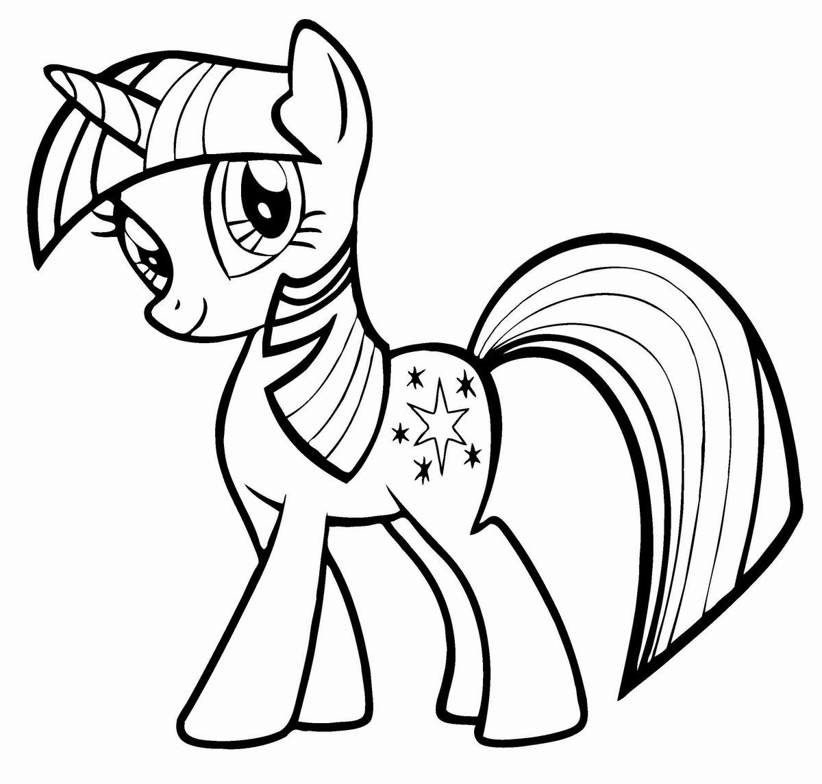 My Little Pony Coloring Pages To Print Through The