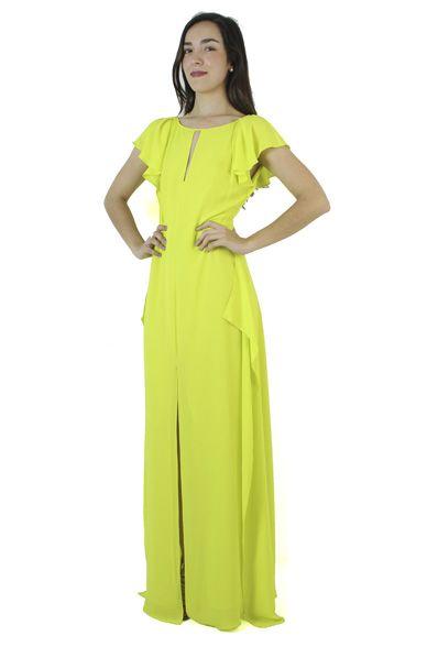 BCBG MaxAzria Vestido amarillo neón 72f4c8cef07d