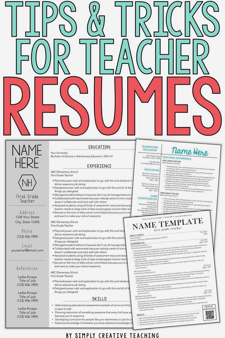 Teacher Resume Tips & Tricks education resume examples