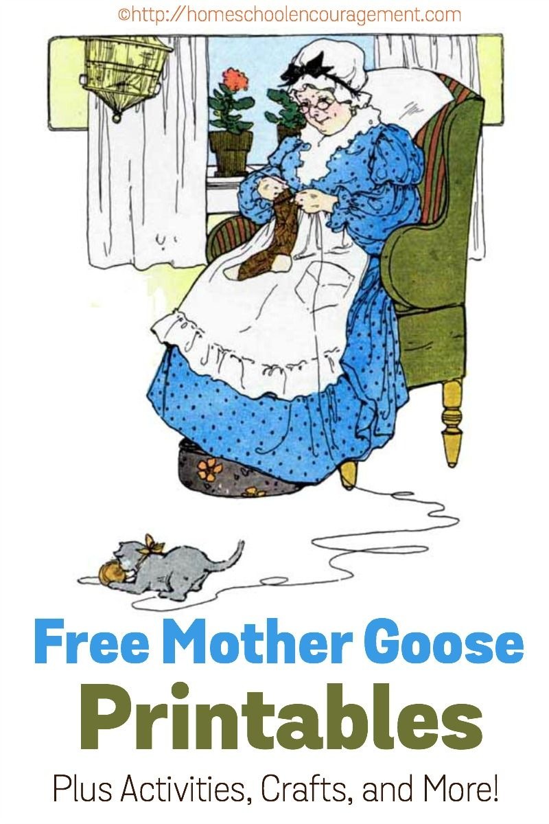 Free Mother Goose Printables plus crafts, activities, and more ...