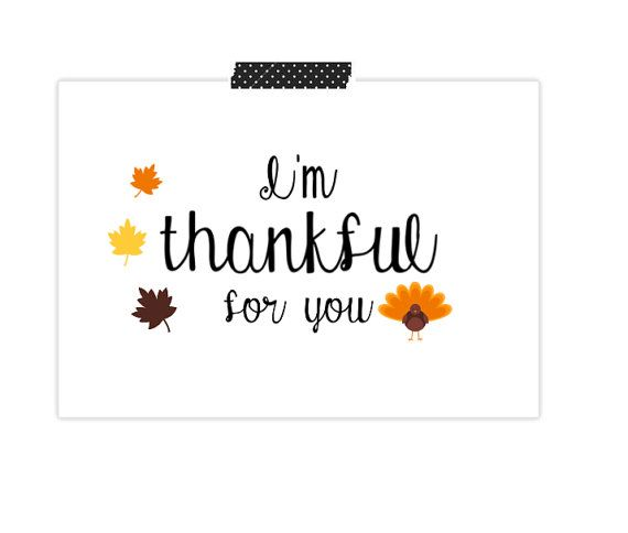 Thanksgiving Card Im Thankful For You Card By Sundaymorningcards Card Card Blank Cards