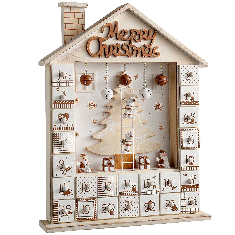 Deco Noel En Bois Naturel werchristmas décoration de noël maison en bois calendrier de