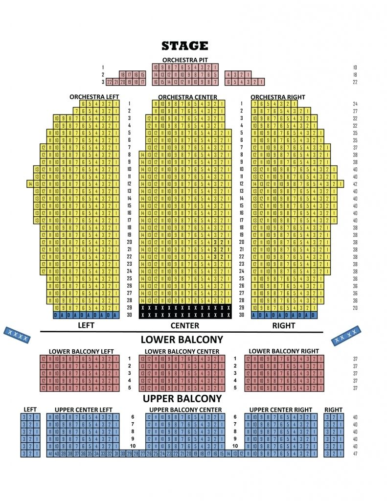 Fox Theater Seating Chart With Seat Numbers