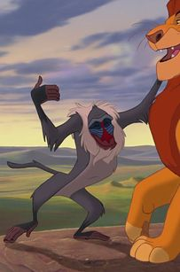 """Bonus! Rafiki is an abomination against nature.   10 Unsettling Truths """"The Lion King"""" GlossedOver"""