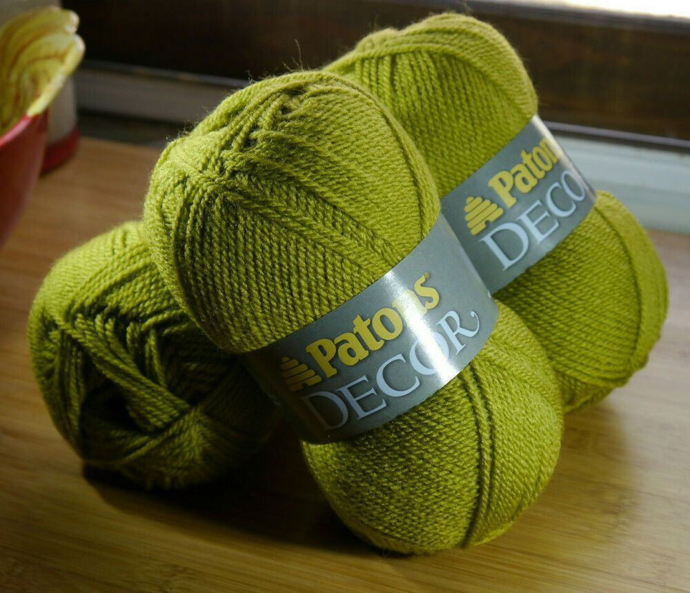 Lot of 3 Patons Decor Worsted Weight(4) Yarn 208 Yards Per ...