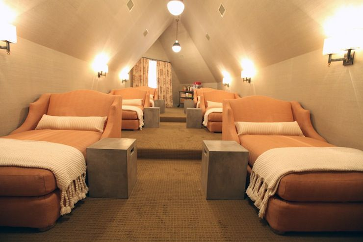 Movie Room Ideas 2 person chaise lounges. attic theatre room.   home ideas