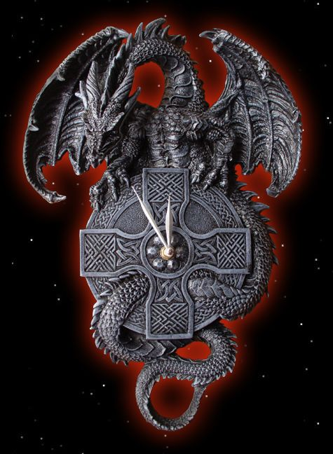 Celtic Dragon Wall Art | dragon spread swing sit on a celtic cross the dragon