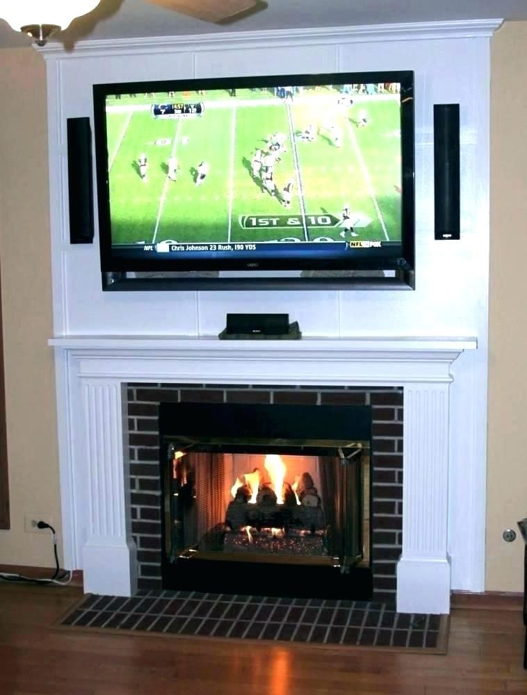 Tv Above Fireplace Hiding Wires Mounting Over Gs Install How To Hang Brick And Hide