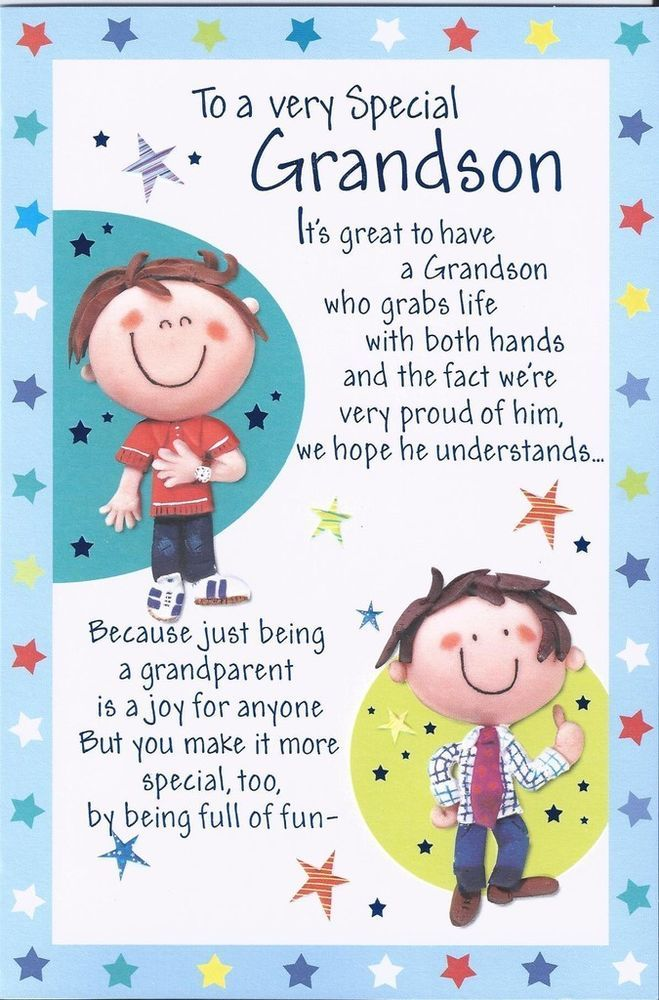 Grandson happy birthday greetings card boy wordy older teenage to my grandson 4th birthday quotes grandson happy birthday greetings card boy wordy older m4hsunfo