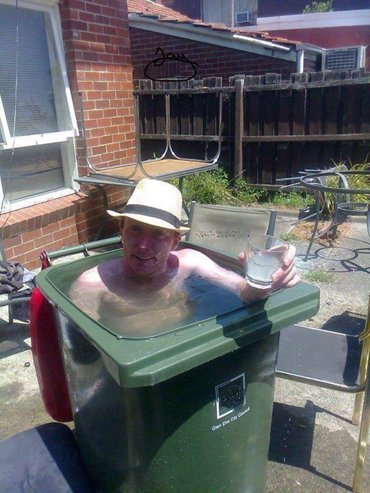 Image result for red neck hot tub