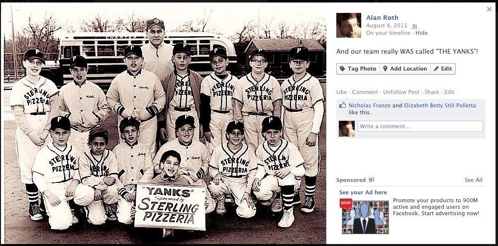 Little League Team Photo   (early 1960's)