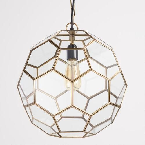 Faceted Glass Paxton Pendant Affordable Pendant Lighting