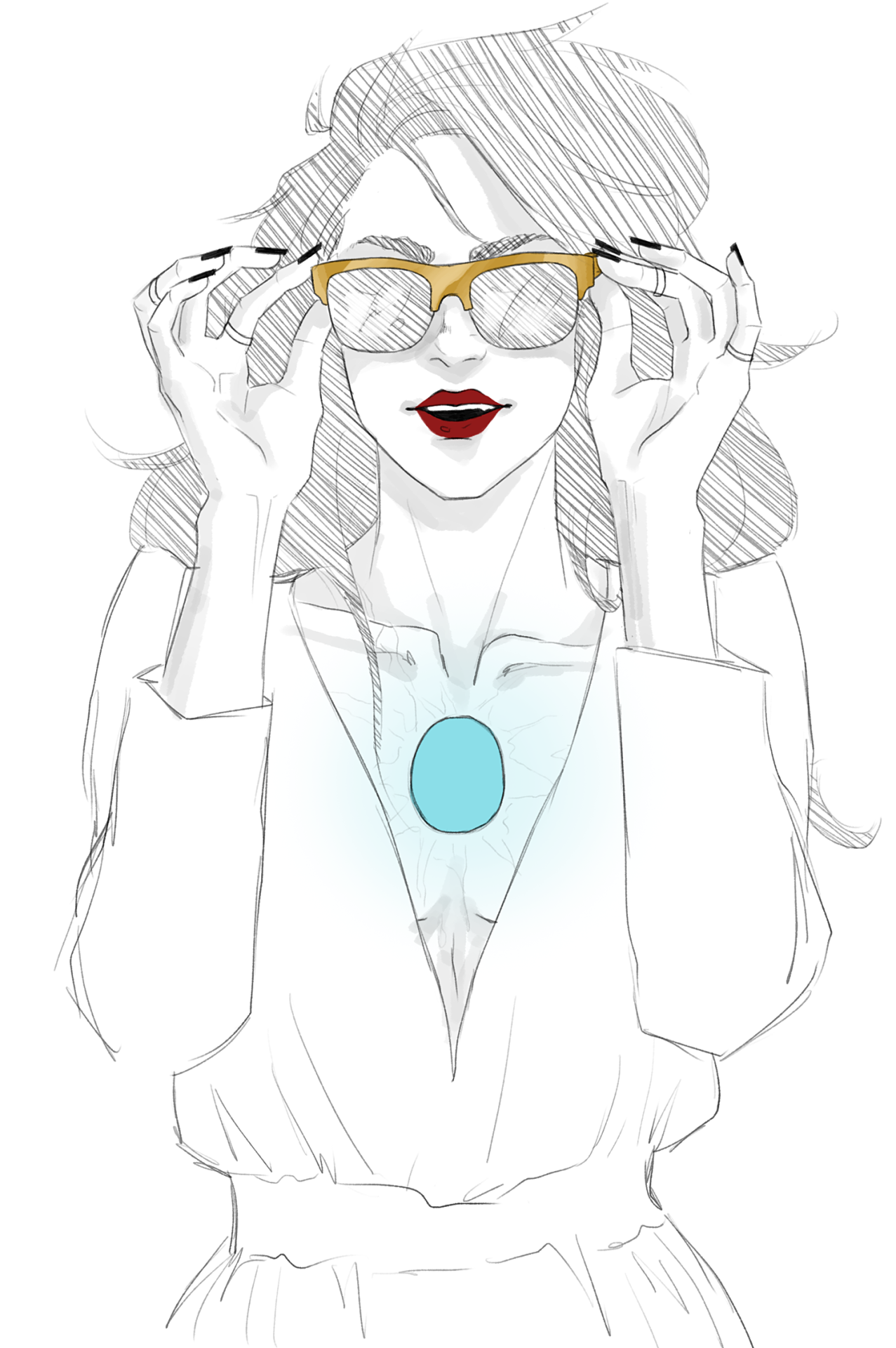 More Natasha Stark This Time With Golden Shades Because