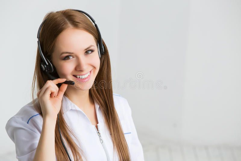 Photo About Woman Customer Service Worker Call Center Smiling Operator Image Of Background Helpline Smile Call Center Stock Photos Woman Customer Service
