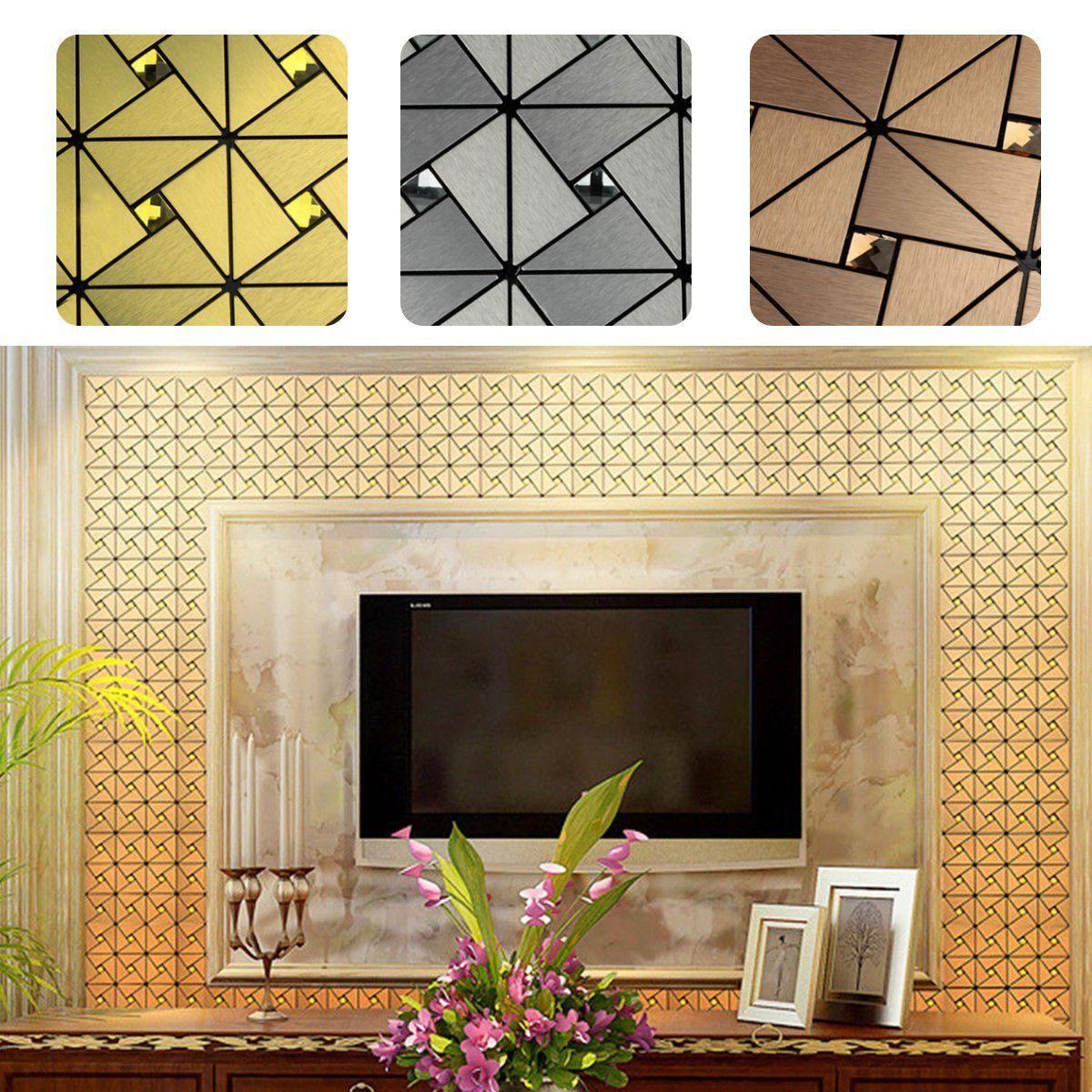 30x30Cm Aluminum Tile Self Adhesive Wallpaper Kitchen