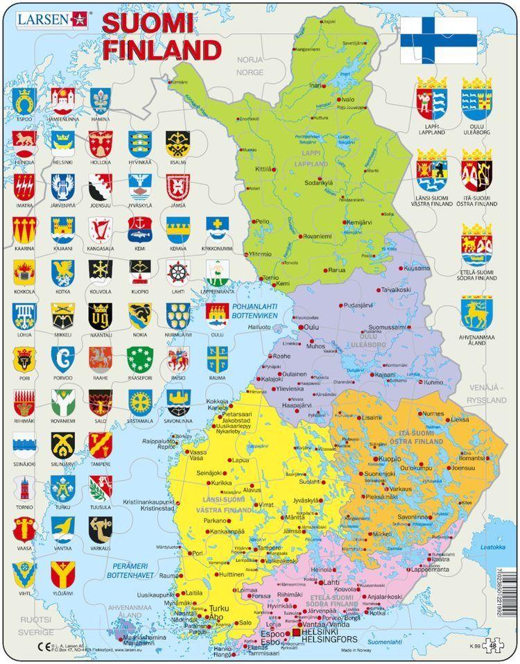 Mapa Politico Da Finlandia Finlandia Mapa Mapa Mundi
