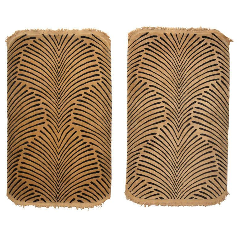 A rare pair of Art Deco rugs designed by Oliver Hill | From a unique collection of antique and modern more carpets at https://www.1stdibs.com/furniture/rugs-carpets/area-rugs-carpets/