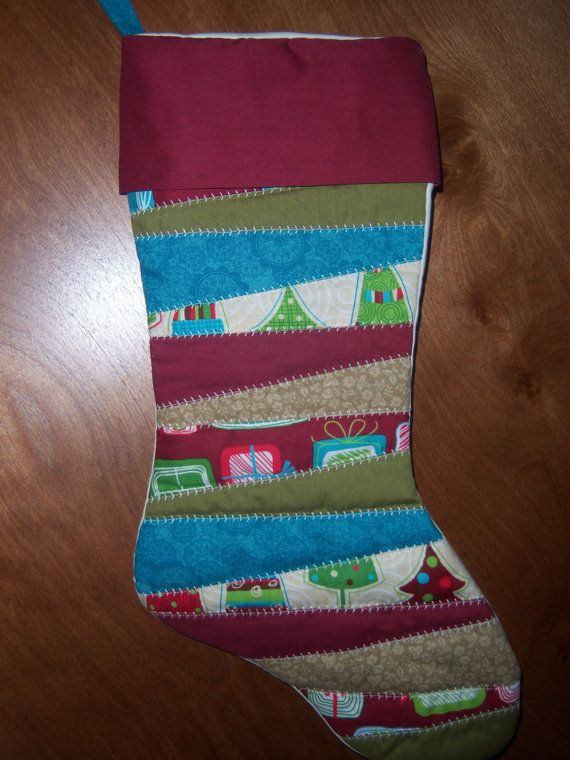 Homemade Quilted Christmas Stocking. She does custom orders!