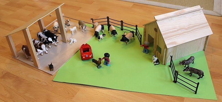 holz bauernhof schleich tiere vorlage basteln pferdestall pinterest selber bauen holz und. Black Bedroom Furniture Sets. Home Design Ideas