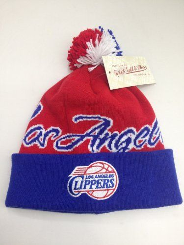 6f1823496c0 Mitchell   Ness cuffed pom Knit beanie National City NBA Los Angeles  Clippers by Mitchell   Ness.  32.99