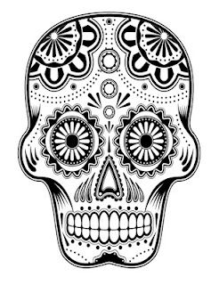 Free Printable Coloring Pages Day Of The Dead Pinterest