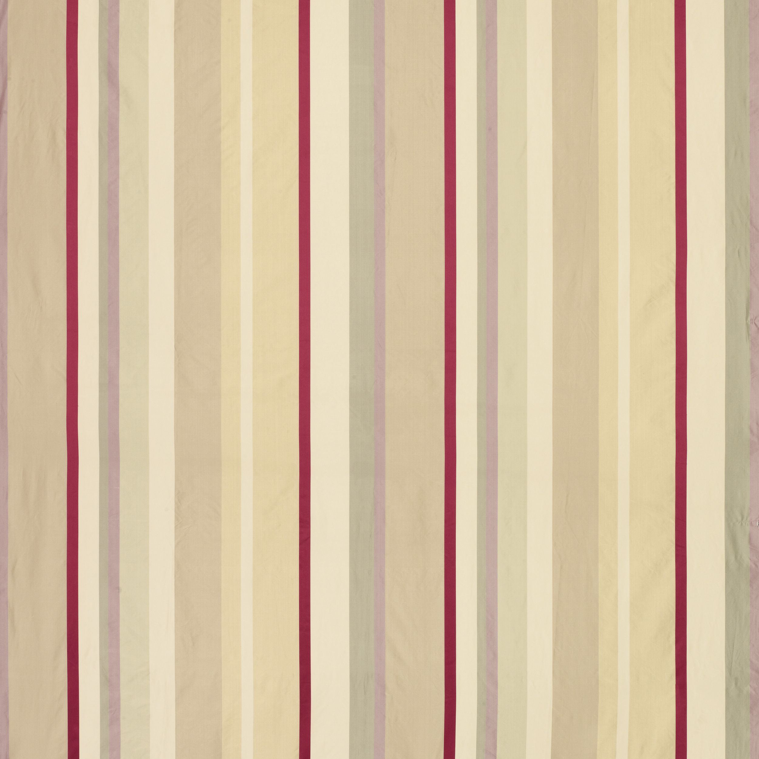 Laura Ashley Caspian Stripe Silk Mix - Cranberry