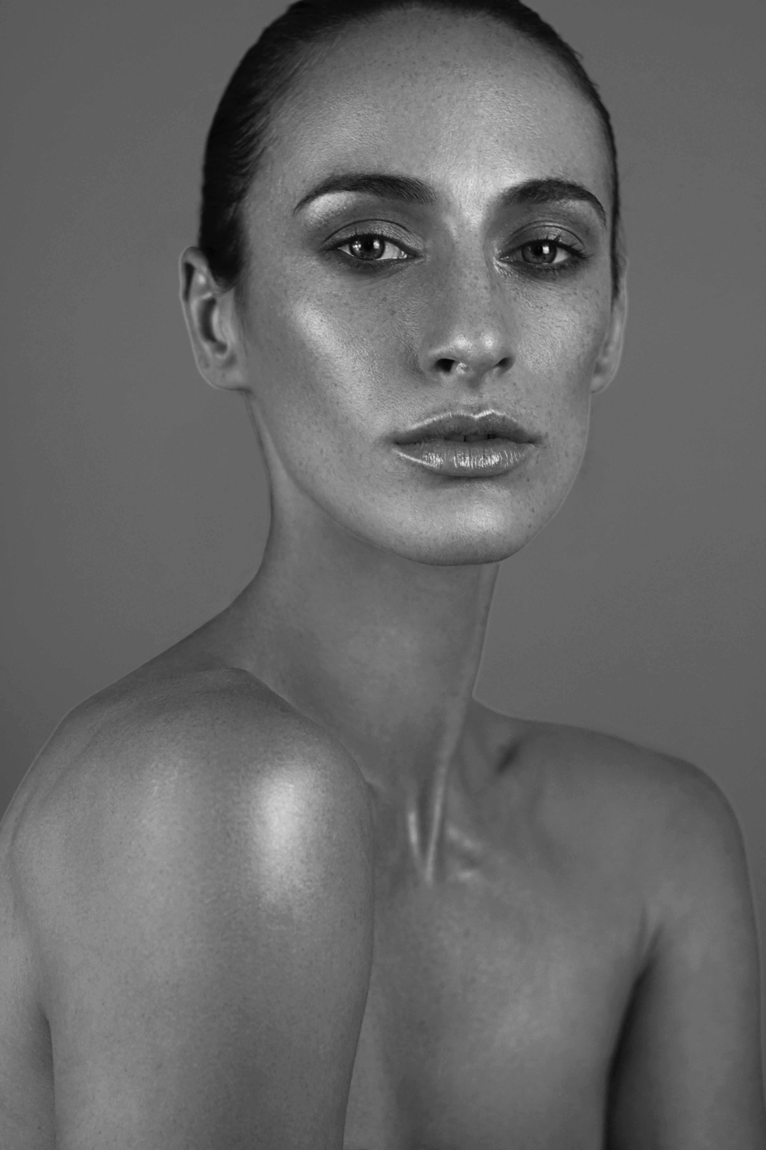 BLACK AND WHITE METALLIC. Shot by me and makeup by my