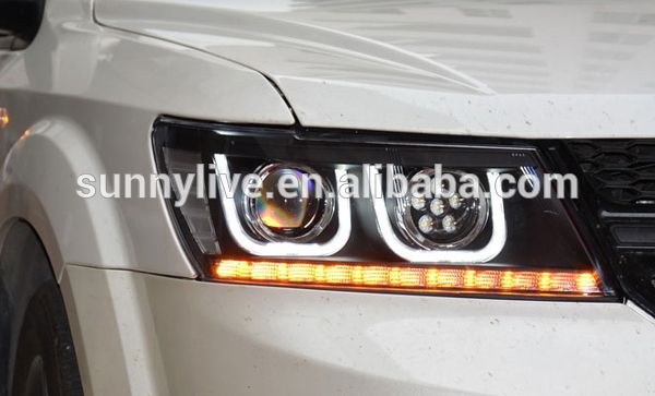 For Dodge Journey Jcuv Fiat Freemont Led Head Lamps U Style Led