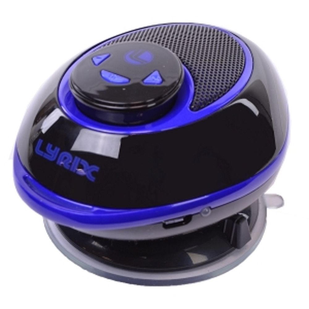 Lyrix Duo 2-in-1 Bluetooth Speaker w/Removable Receiver & Suction Cup Mount (Blue/Black)