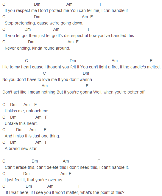 Maroon 5 Unkiss Me Chords Capo 1 Songs To Learn Pinterest
