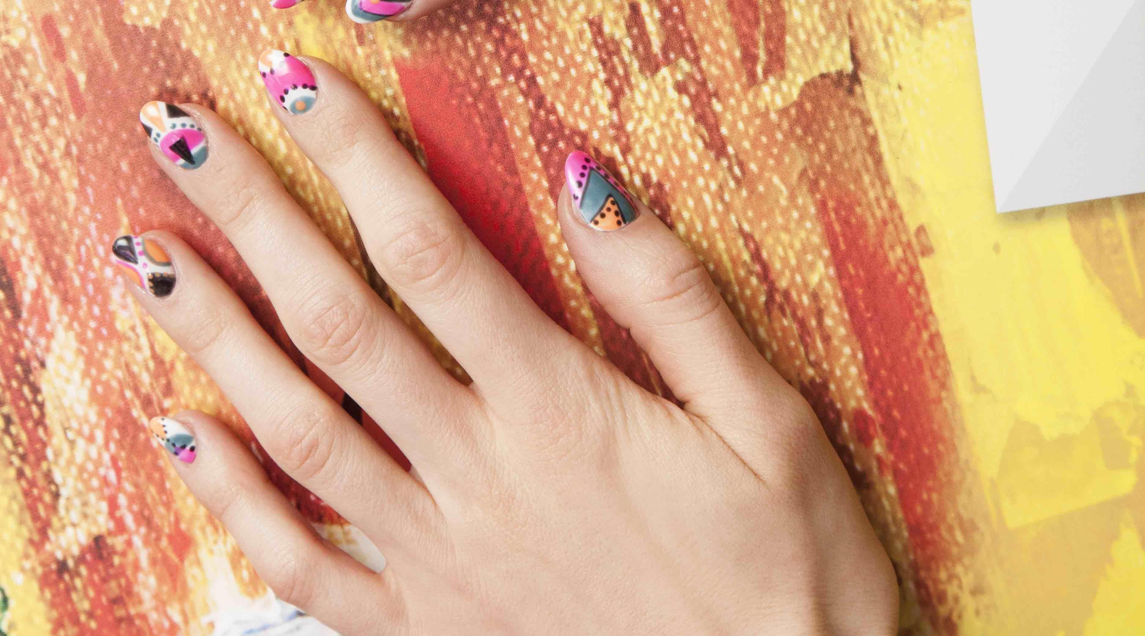 Colour Block Nails By Nina Subasic Color Block Nails Latest