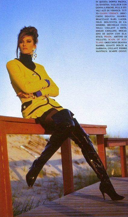 STRONG COLORS Vogue Italia August 1991 ph. Arthur Elgort