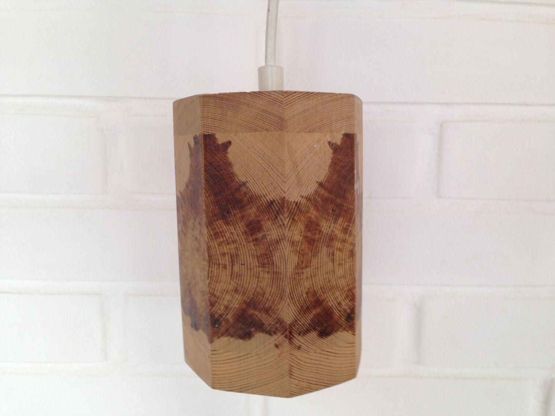 Swedish vintage Wooden Lamp Wood Pendant Lamp Hanging Wood Lamp Handmade Scandinavian Design Lamp Ceiling Lamp Electric Light Hanging Lamp