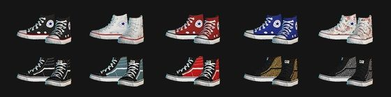 Pixicat High Sneakers at Dream Team Sims | Sims, The sims