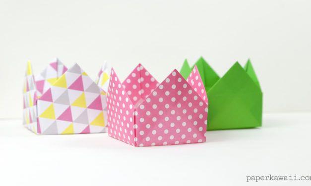 Origami Crown Box Alebo Veko Intrukcie Krabiky A Balenie