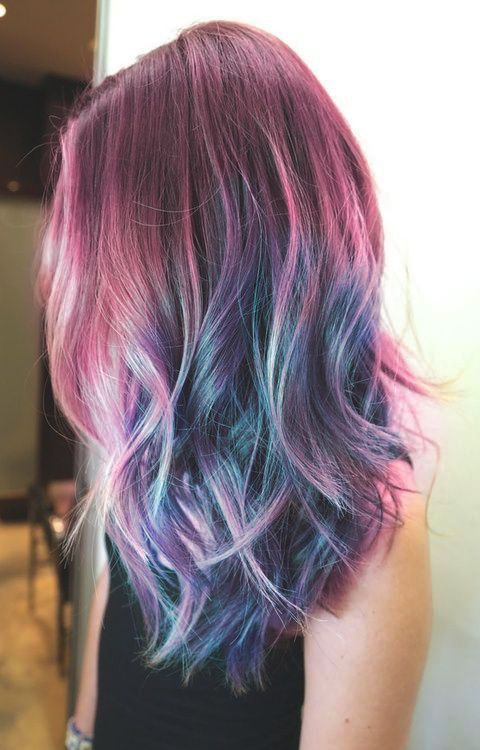 blue pink purple hair | Tumblr | Hair style | Pinterest | Pink ...