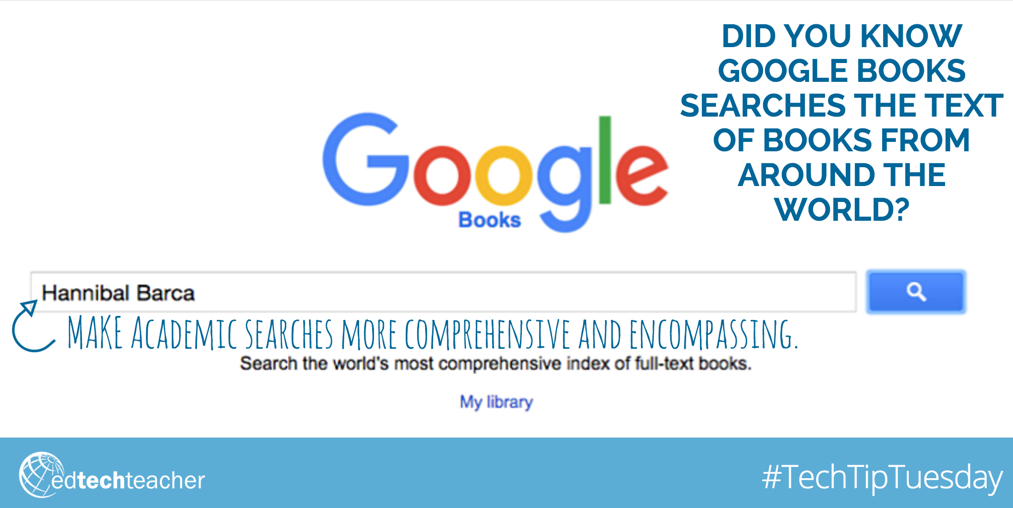 #TechTipTuesday: Learn more about the Power of #GoogleBooks from Jennifer Carey http://edtechteacher.org/google-books-jen-carey/ #GAFE