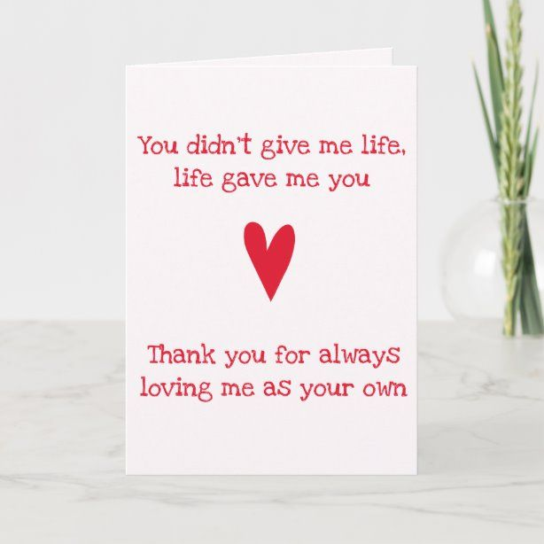 Red Heart Mother's Day Card