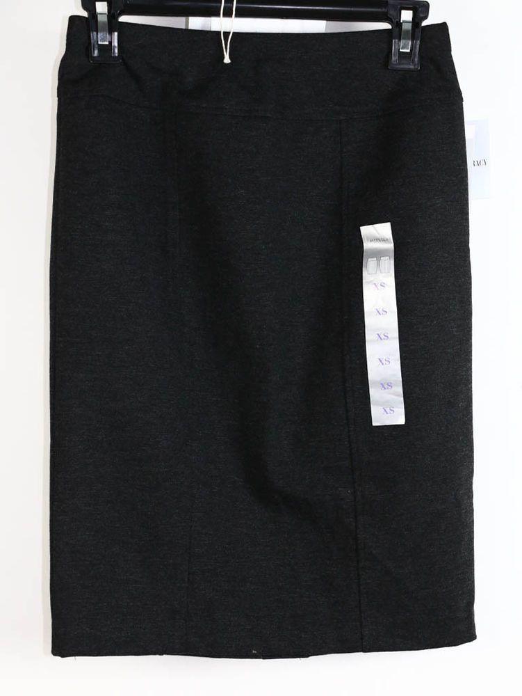 NWT Ellen Tracy Charcoal Gray Straight Pencil Skirt XS #EllenTracy #StraightPencil #Career