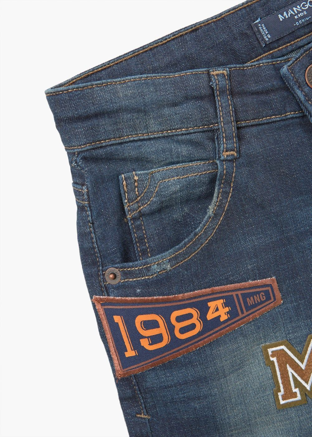 777db3835 Embroidered patch jeans - Boys | Patchwork Fun | Patched jeans, Boys ...
