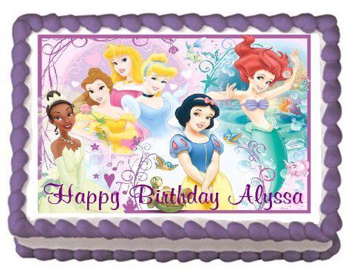 Disney Princesses sheet cake Hollys Buttercream Cakes