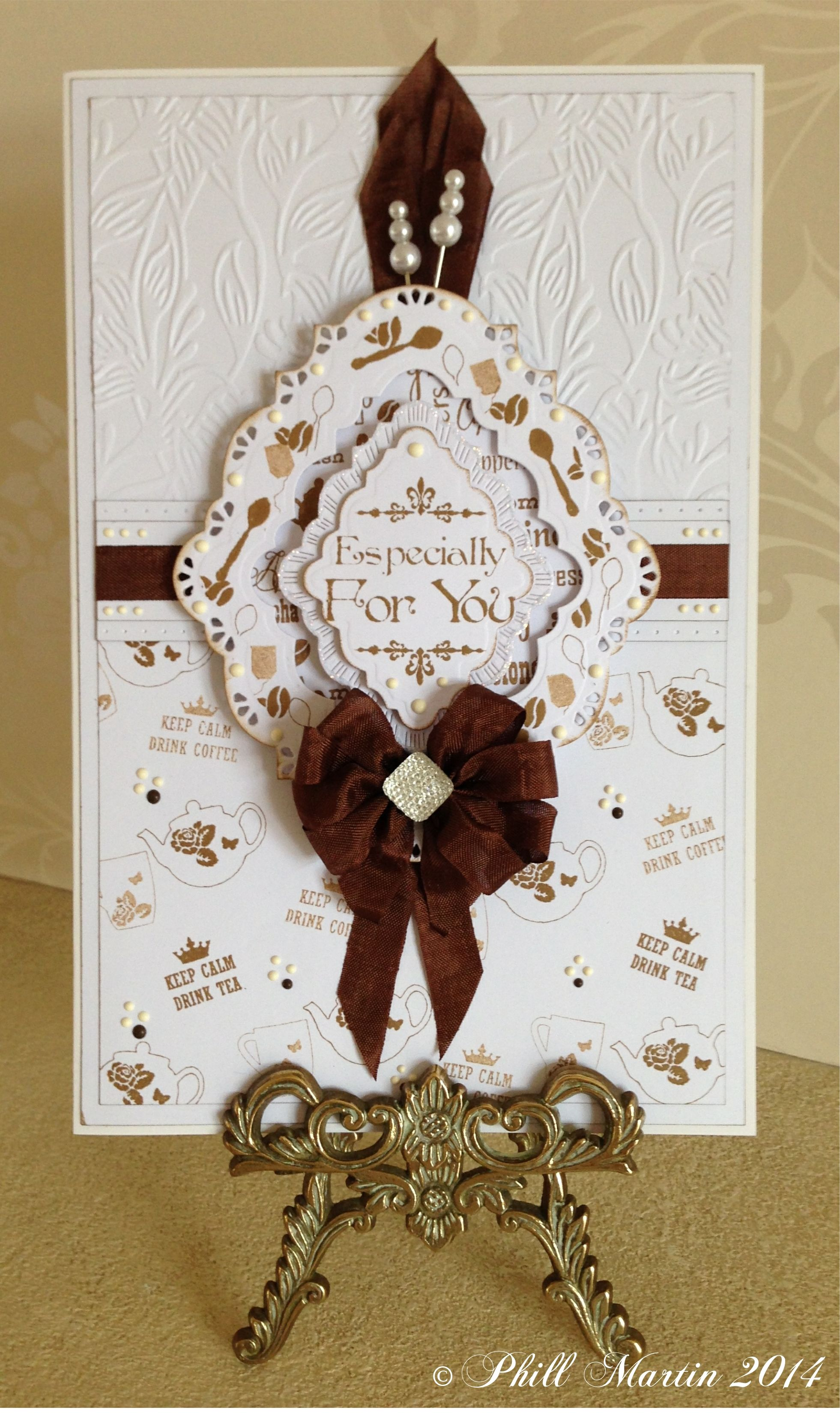 21cm x 16cm card, made by me, using Sentimentally Yours Time For A Cuppa Montage…