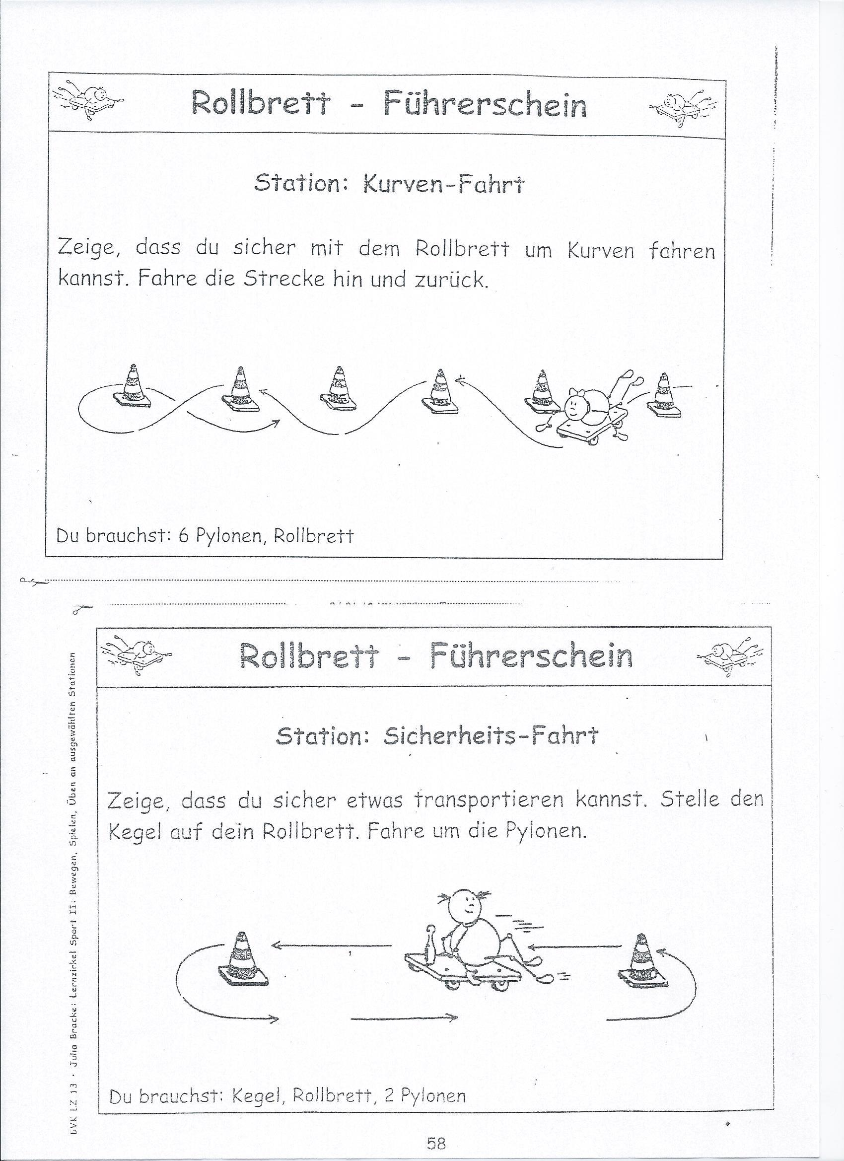 Bildergebnis für rollbrettführerschein stationen | Turnen ...