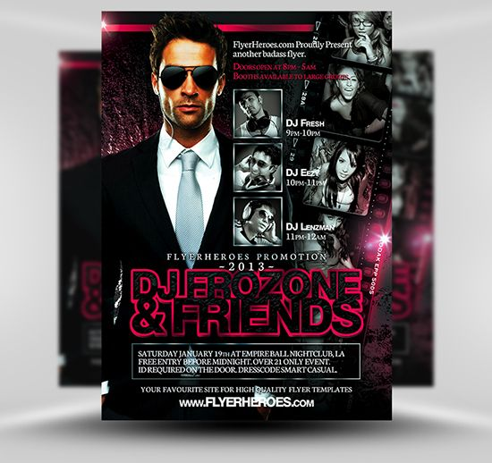 Frozone Free Dj Flyer Template Psd Photoshop Flyer Template