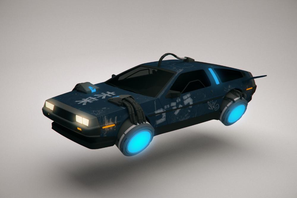 Free Cyberpunk Flying 3d Model Turbosquid 1422593 In 2020 Delorean Flying Car Cyberpunk