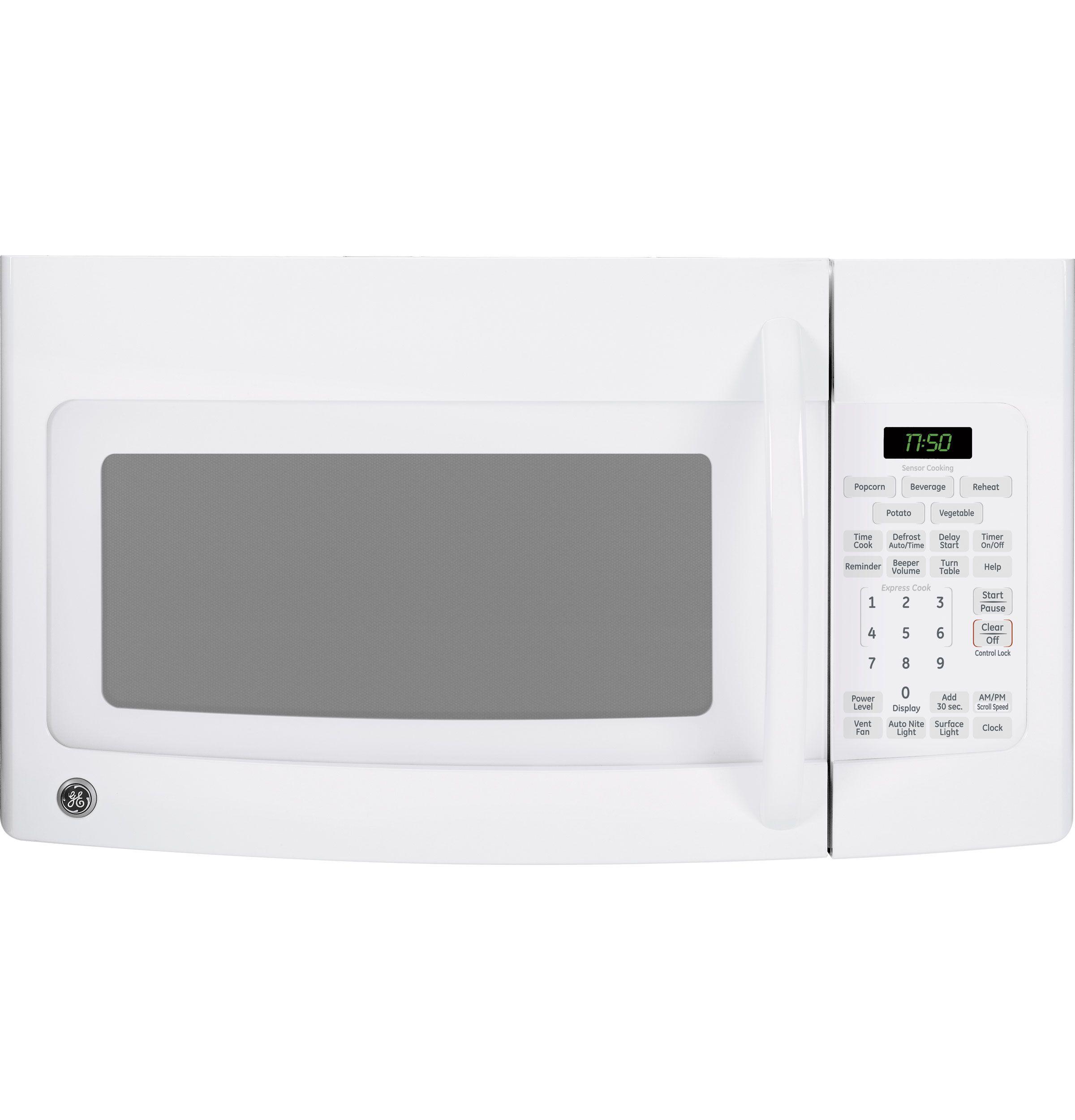 Jvm1750dpww Ge Spacemaker 1 7 Cu Ft Over The Range Sensor Microwave Oven Ge Appliances Over The Range Microwaves Microwave Oven Ge Microwave